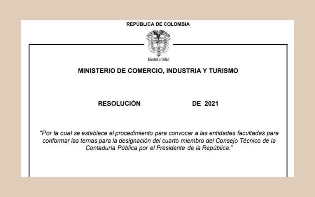Convocatoria para elegir el cuarto miembro del CTCP
