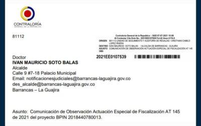 Informe de Actuación Especial de Fiscalización de la Contraloría General de la República en el municipio de Barrancas (La Guajira)