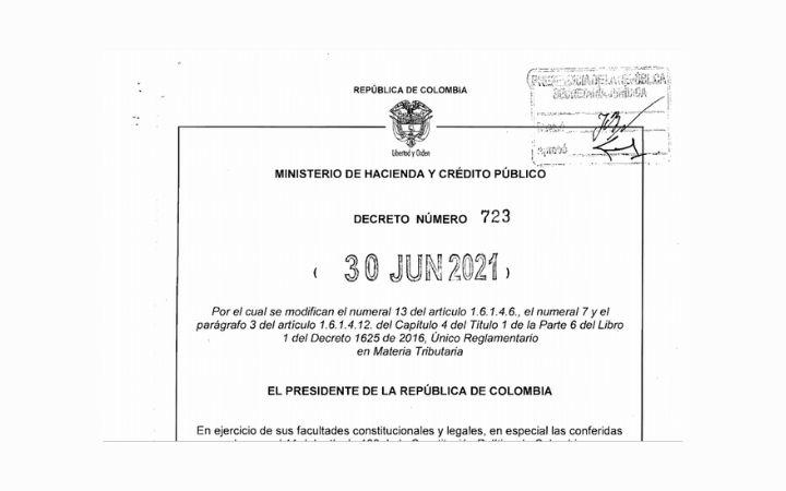 DECRETO 723 (Junio 30 de 2021) Documento Equivalente Electrónico para NO OBLIGADOS A FACTURAR
