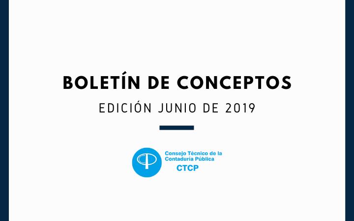 BOLETÍN DE CONCEPTOS Edición junio de 2019