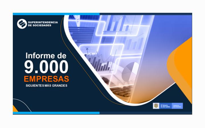 Informe de las 9.000 empresas siguientes MAS GRANDES de Colombia
