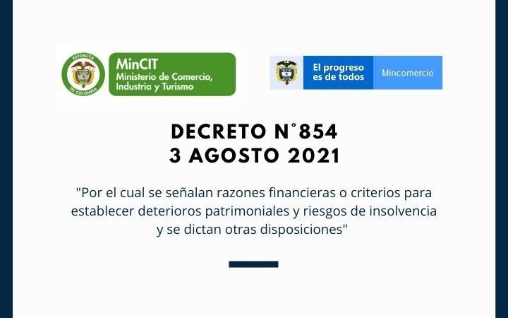DECRETO  N°854 (3 Agosto 2021)