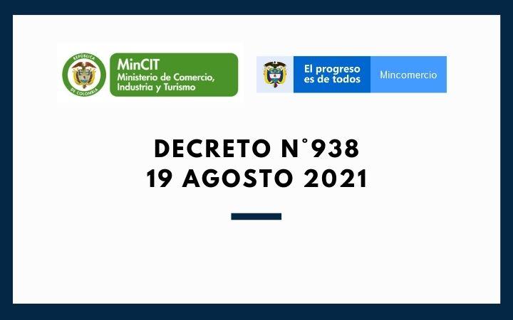 DECRETO N°938 (19 de Agosto 2021)