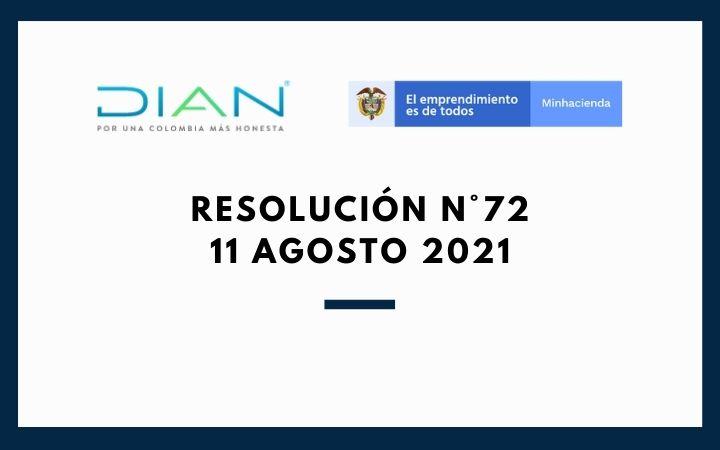 RESOLUCIÓN  N°72 (11 de Agosto 2021)