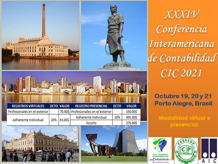 XXXIV Conferencia Interamericana de Contabilidad AIC – Porto Alegre – Brasil