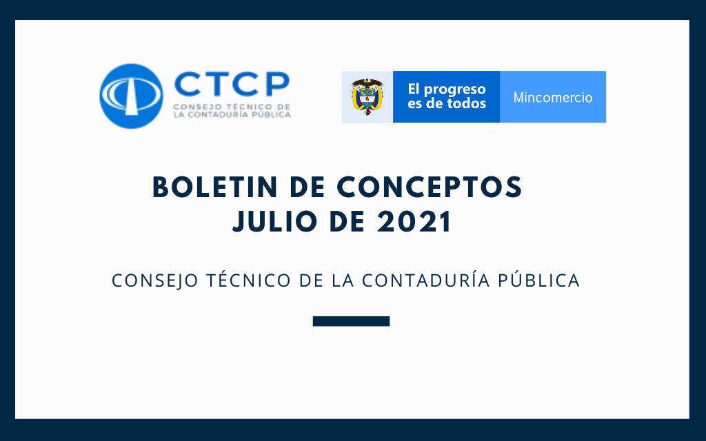 Boletín de Conceptos (Julio 2021)  CTCP