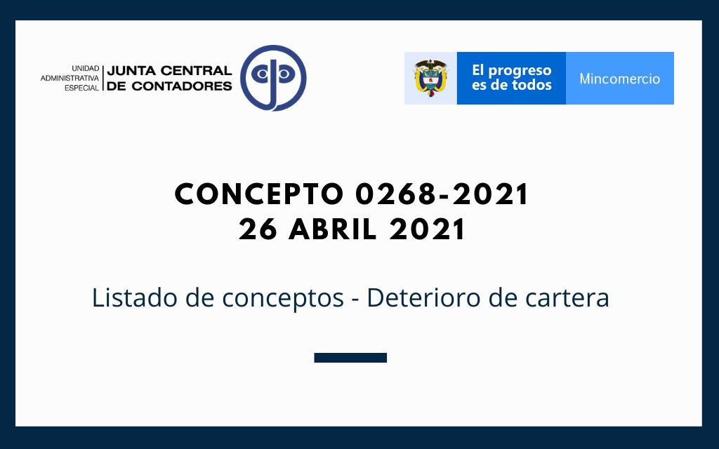 Concepto 0268-2021 (26 abril 2021) CTCP