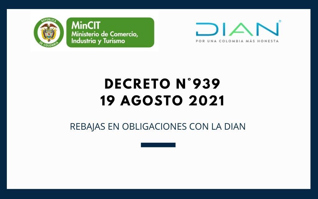 Decreto N°939 (19 de agosto 2021)