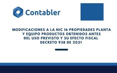 Modificaciones a la NIIF 16 | Decreto 938 de 2021