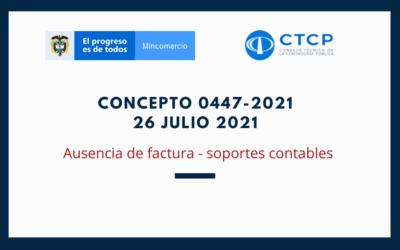 Concepto 0447-2021 (26 Julio 2021) CTCP